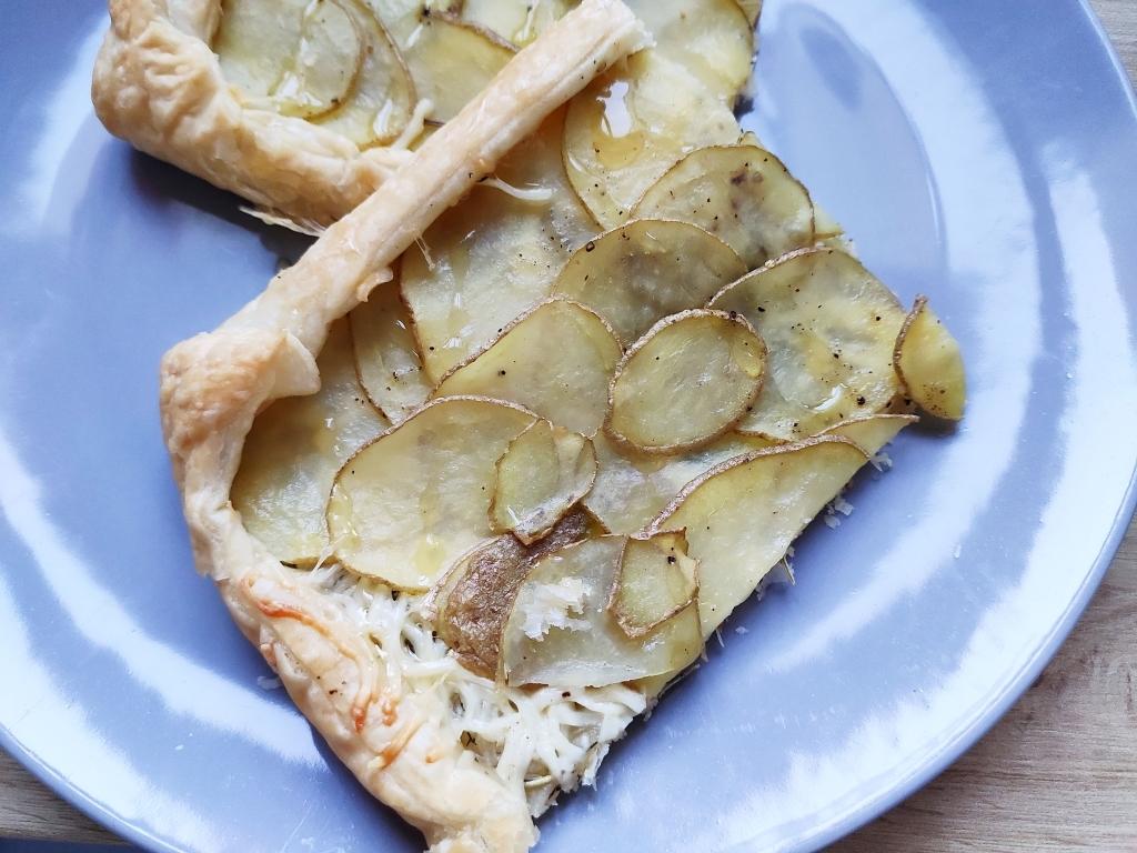 Instarecette #2 Tarte fine pomme de terre, fromage et miel