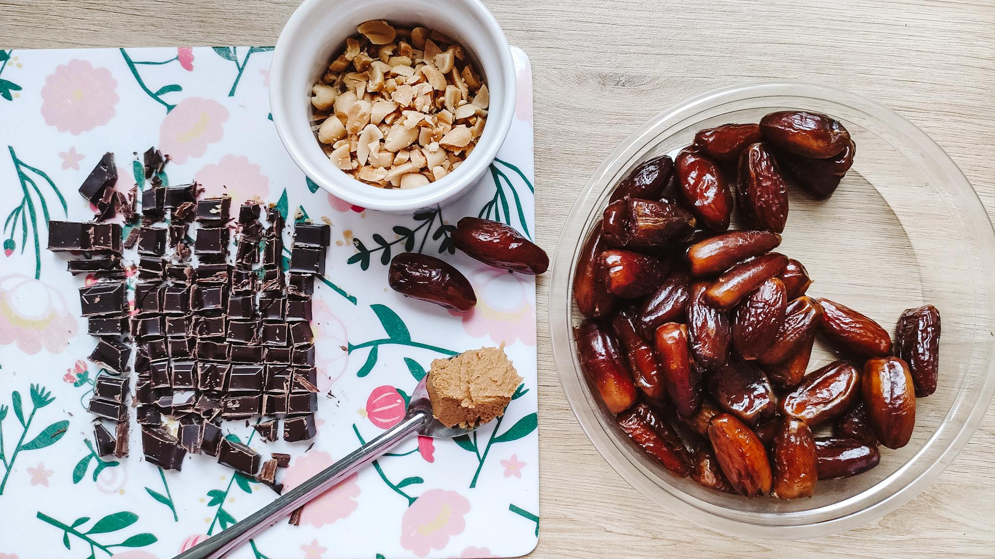 Dattes façon snickers - Goûter sain sans cuisson